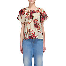 Buy Whistles Cactus Square Neck Blouse, Ivory Online at johnlewis.com