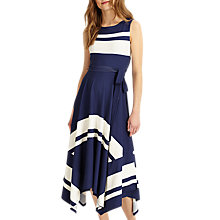 Buy Phase Eight Winola Stripe Maxi Dress, Navy/Ivory Online at johnlewis.com