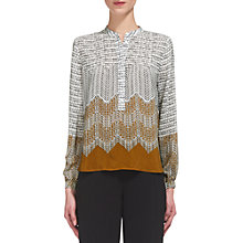 Buy Whistles Heather Aztec Print Shirt, Gold/Multi Online at johnlewis.com