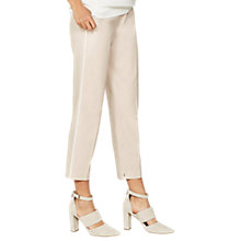 Buy Mint Velvet Petal Side Stripe Trousers, Light Pink Online at johnlewis.com