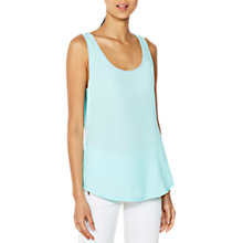 Buy Mint Velvet Woven Front Vest, Light Blue Online at johnlewis.com