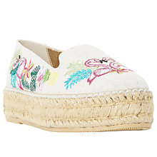 Buy Dune Glamour Flatform Espadrilles, Multi Online at johnlewis.com