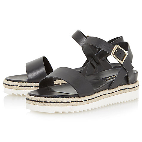 Buy Dune Black Liss Flatform Sandals Online at johnlewis.com