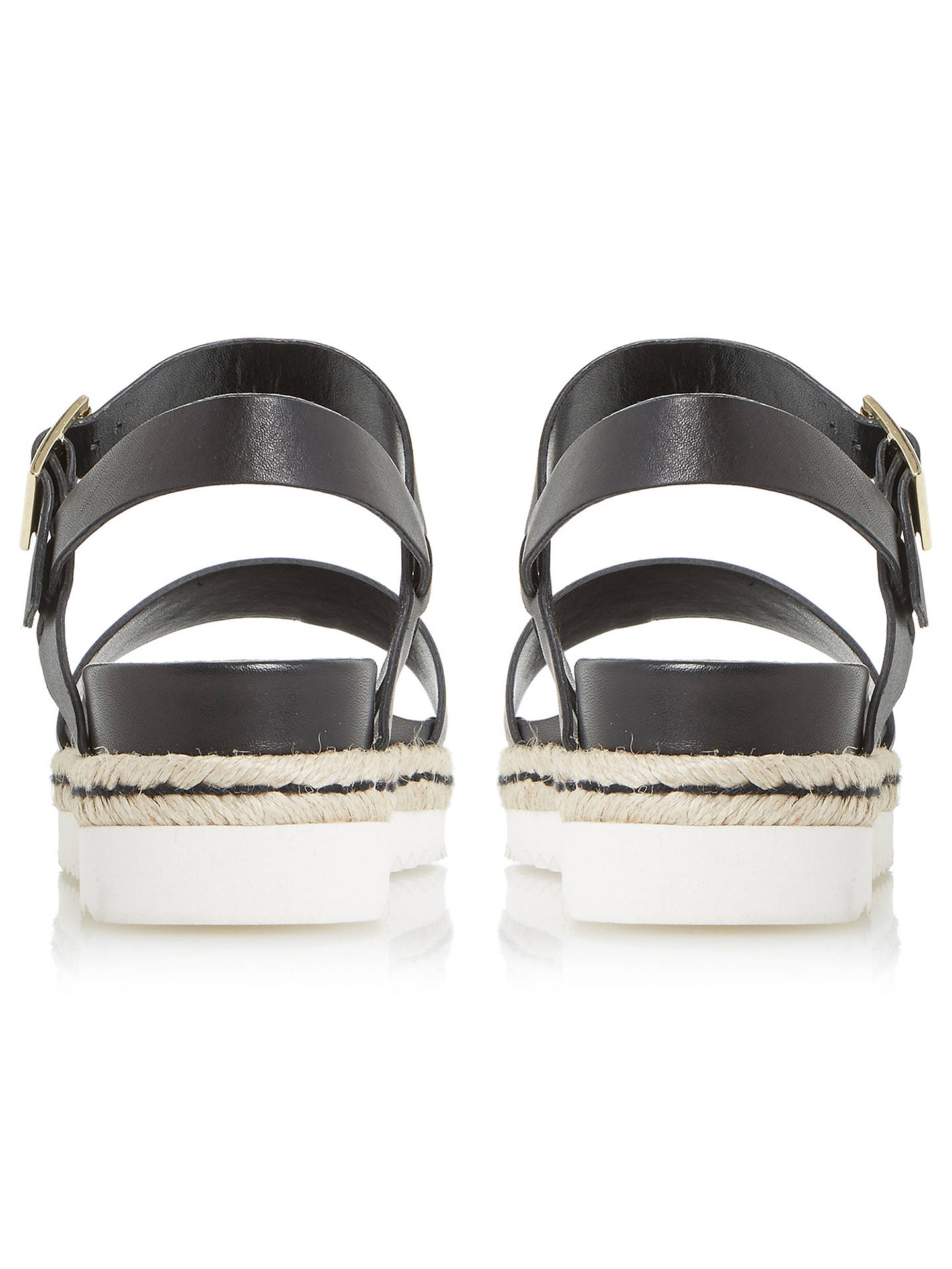 081cde997984 Dune Black Liss Flatform Sandals at John Lewis   Partners