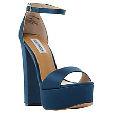 Buy Steve Madden Gonzo Platform Block Heeled Sandals, Teal Online at johnlewis.com