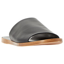 Buy Dune Leny Mule Flat Sandals, Black Online at johnlewis.com