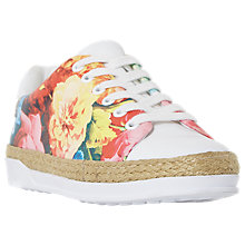 Buy Dune Elissa Floral Lace Up Trainers, Multi Online at johnlewis.com