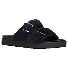 Buy Carvela Krumble Sheepskin Double Strap Sandals, Blue Online at johnlewis.com