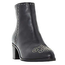 Buy Dune Queenie Embellished Pointed Toe Ankle Boots, Black Online at johnlewis.com