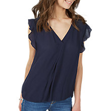 Buy Fat Face Jodie Blouse, Navy Online at johnlewis.com