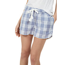 Buy Fat Face Sketchy Check Racer Pyjama Shorts, Chambray Online at johnlewis.com