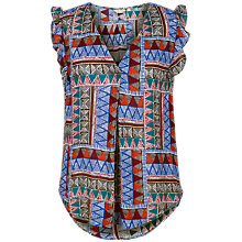 Buy Fat Face Jodie Tribal Geo Blouse, Multi Online at johnlewis.com