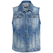 Buy Fat Face Denim Gilet, Mid Denim Online at johnlewis.com