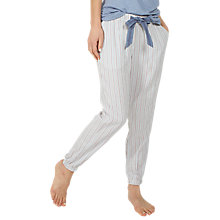 Buy Fat Face Stripe Cuffed Pyjama Bottoms, Multi Online at johnlewis.com