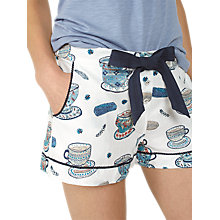 Buy Fat Face Tea Cups Classic Pyjama Shorts, Ivory Online at johnlewis.com