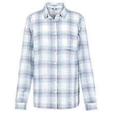 Buy Fat Face Rachel Check Shirt, Ivory/Multi Online at johnlewis.com