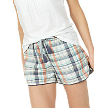 Buy Fat Face Check Racer Pyjama Shorts, Soft Mint Online at johnlewis.com