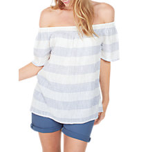 Buy Fat Face Ellen Stripe Blouse, White Online at johnlewis.com