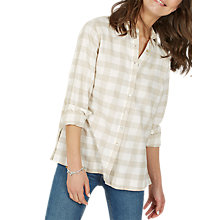 Buy Fat Face Rachel Buffalo Check Cotton Shirt, Ivory Online at johnlewis.com