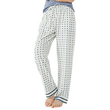 Buy Fat Face Daisy Geo Jersey Pyjama Bottoms, White Online at johnlewis.com