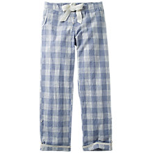 Buy Fat Face Sketchy Check Classic Pyjama Bottoms, Chambray Online at johnlewis.com