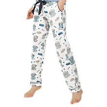 Buy Fat Face Tea Cups Classic Pyjama Bottoms, Ivory Online at johnlewis.com