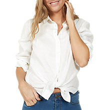 Buy Fat Face Rachel Linen Shirt, White Online at johnlewis.com