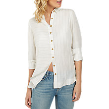 Buy Fat Face Rachel Linen Stripe Shirt, White Online at johnlewis.com