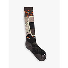 Buy SmartWool PhD Ski Medium Men's Socks, Black/Multi Online at johnlewis.com
