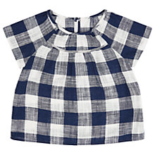 Buy Jigsaw Girls' Gingham Top, Navy Online at johnlewis.com