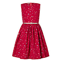 Buy John Lewis Girls' Star Print Prom Dress, Red Online at johnlewis.com