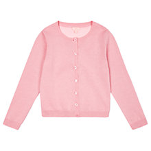 Buy Jigsaw Girls' Woven Back Cardigan, Pink Online at johnlewis.com