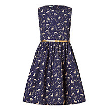 Buy John Lewis Girls' Deer Print Prom Dress, Navy Online at johnlewis.com