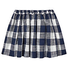 Buy Jigsaw Girls' Gingham Skirt, Navy Online at johnlewis.com