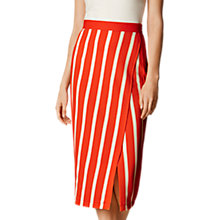 Buy Karen Millen Textured Jersey Skirt, Red/Multi Online at johnlewis.com