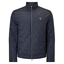 Buy GANT Windcheater Collared Jacket, Navy Online at johnlewis.com