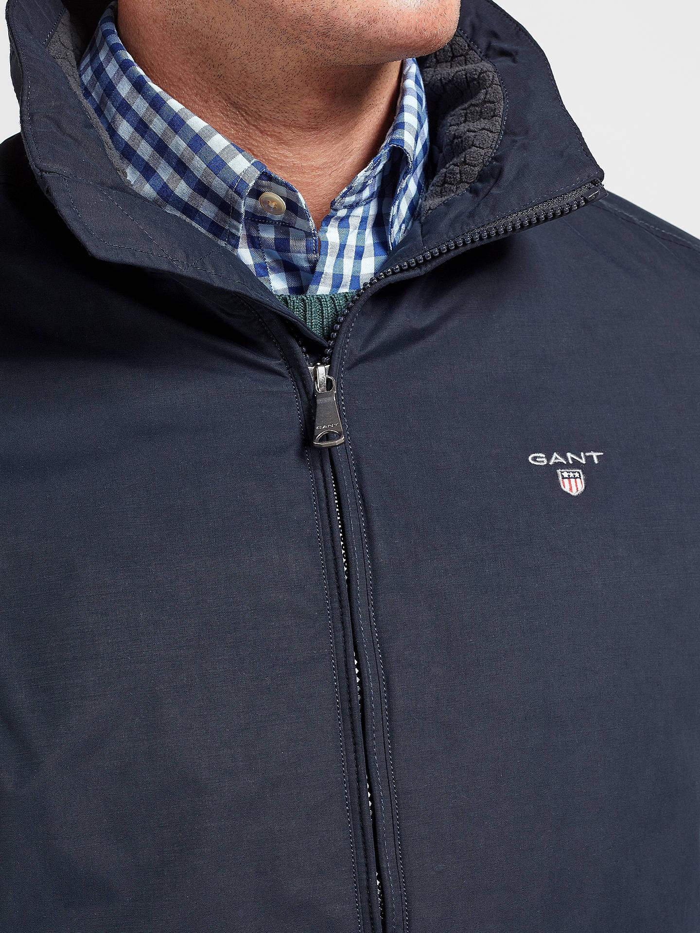 85110810af ... Buy Gant Mid Length Jacket, Navy, M Online at johnlewis.com ...