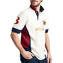 Buy Joules Caspian Polo Shirt, Cream/Navy/Red Online at johnlewis.com