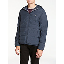 Buy Fred Perry Insulated Hooded Brentham Jacket, Dark Airforce Online at johnlewis.com