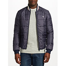 Buy Fred Perry Lavenham Quilted Bomber Jacket, Navy Online at johnlewis.com