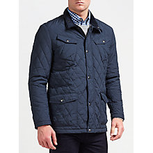 Buy Gant Central Pond Quilted Jacket, Navy Online at johnlewis.com
