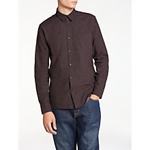 Buy J. Lindeberg Daniel Brushed Shirt, Dusty Burgundy Online at johnlewis.com