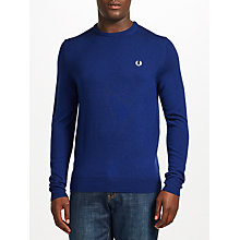 Buy Fred Perry Merino Wool Crew Neck Jumper, French Navy Online at johnlewis.com