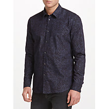 Buy J. Lindeberg David Refined Denim Shirt, Mid Blue Online at johnlewis.com