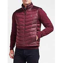 Buy Gant Airlight Down Gilet, Purple Wine Online at johnlewis.com