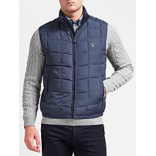 Buy Gant Cloud Quilted Gilet, Navy Online at johnlewis.com