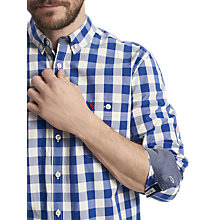 Buy Joules Hewney Gingham Classic Fit Shirt, Buckingham Blue Online at johnlewis.com
