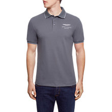 Buy Hackett London Aston Martin Racing Polo Top, Grey Online at johnlewis.com