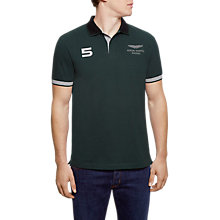 Buy hackett London AMR Number Polo Shirt, Green Online at johnlewis.com