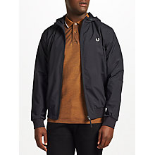 Buy Fred Perry Hooded Brentham Jacket, Navy Online at johnlewis.com